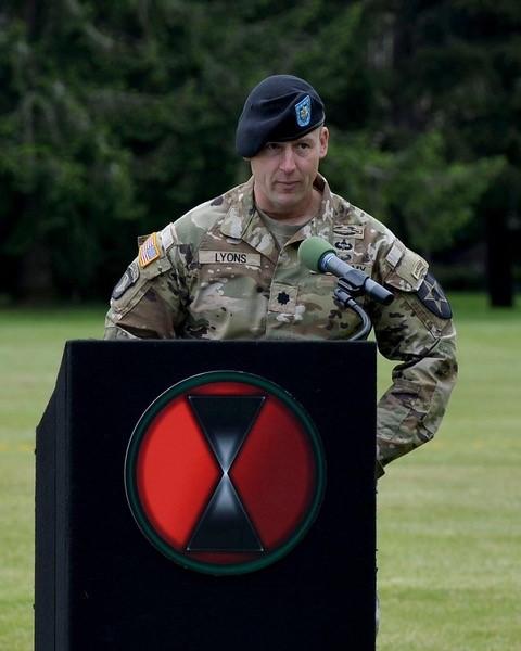 Soldier at Podium